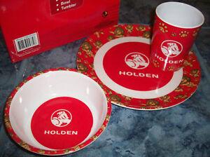HOLDEN GIFT BOXED 3PC DINNER SET KIDS MELAMINE BOWL PLATE CUP Lunch Breakfast ✅