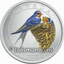 Canada 2011 Colorful Birds Barn Swallow 25 Cent Color Specimen Quarter