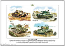 BRITISH TANKS OF WWII  Fine Art Print - Churchill, Crusader, Cromwell & Comet