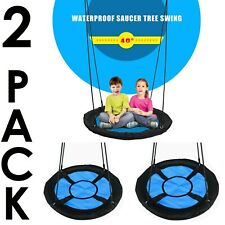 2 Pack Tree Swing For Kids And Adults House Patio Backyard Camping Park Picnic
