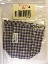 Longaberger 1997 JW Mini Waste Basket Fabric Liner Only Stand Up New