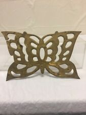Vintage Antique Brass Butterfly Tray