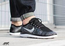 Nike Free 4.0 Flyknit Black White Oreo Running Shoes UK Size 7.5 717075-001