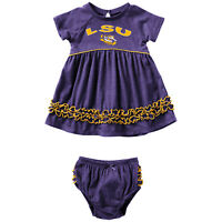 LSU Tigers Infant Purple Dress 0-12 Months Free Shipping Plucky Bloomer