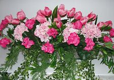 Bohemian Victorian Garden Cafe Pink Breast Cancer Window Flower Box Arrangements