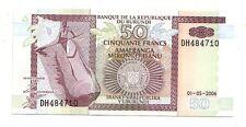Burundi   50 franchi  2006      FDS  UNC    pick 36 f       lotto 3579