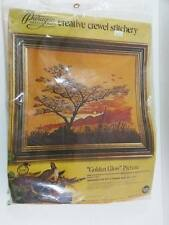 Paragon Golden Glow Sunset Crewel Embroidery Needlecraft Kit  Adele Veres 1975