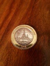 First World War £2 pound coin Royal Navy HMS Belfast Rare Collectible