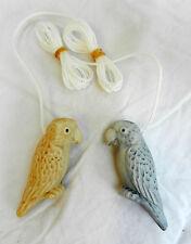 Ceramic Parrot  / Macaw Cord Pull / Light Cord Pull - BNIB