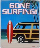 "Surf Theme Tin Sign /""Surf City/"" 32574D"