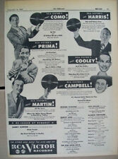 Cecil Campbell Spade Cooley Phil Harris Louis Prima 1947 Ad- RCA Victor