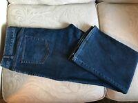 J Jill AUTHENTIC FIT Jeans Boot Cut Medium Blue Denim Pants Women Sz 16 Petite