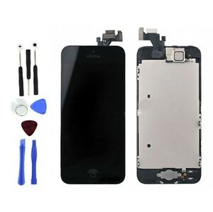 LCD Touch Screen Display Digitizer Assembly Replacement for iPhone 5 Black Tools
