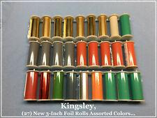 Kingsley Machine ( 27-New 3-Inch Foil Rolls ) Hot Foil Stamping Machine