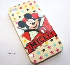 iPHONE 4 4G 4S - PROTECTOR HARD CASE COVER DISNEY RED YELLOW MICKEY MOUSE STARS