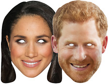 Couples Meghan and Harry Royal Wedding British Fancy Dress Costume Outfit Masks