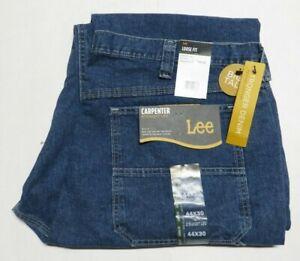 LEE Loose Straight Original Stone Blue Denim Carpenter Jeans Big & Tall  44 x 30