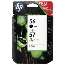 GENUINE ORIGINAL HP 56 Black 57 Colour Ink Cartridges C6656AE C6657AE / SA342AE