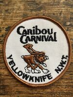 "Vtg Yellowknife Caribou Carnival Sew On Canada Patch 3"" North West Territories"