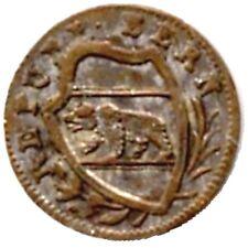 elf Switzerland Canton Bern 1 Rappen 1836  post-Concordat Coinage  Bear