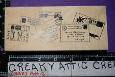 LETTERS POSTCARDS MAIL RUBBER STAMP STAMPA ROSA RETIRED N-59646