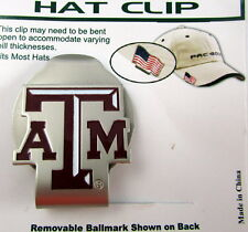 PAC Golf Hatclip w/ Ballmark Ball MarkBallmarker NCAA TEXAS A&M AGGIES Red