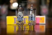 TWO PCC88 VALVO GERMANY VACUUM TUBES GRAY SHIELD O GETTER EARLY 1960's 7DJ8 WOW