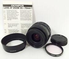 Olympus OM AF Zoom 35-70mm f3.5-4.5 Lens w/Filter Cap & Hood For OM Camera Japan