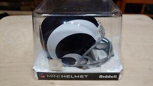 Los Angeles Rams 1965-1972 65-72 VSR4 Throwback Riddell Football Mini Helmet New