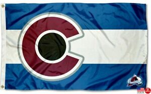 Colorado Avalanche State of Colorado 3 x 5 Flag 3x5 Banner Fast Free US Shipper