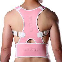 Adjustable Posture Back Lumbar Support Corrector Brace Shoulder Band Belt M L XL