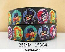 """Ribbon - Girl superheros villains - 1"""" wide - 1m - hair bow"""