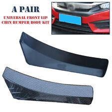 1Pair Car Carbon Fiber Front Bumper Lip Chin Spoiler Splitter Body Kit Universal
