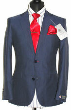 BNWT ALEXANDRE SAVILE ROW LONDON TAILOR-MADE NAVY PINSTRIPE SUIT 36R W30 X L31