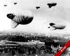 WORLD WAR 2 HOT AIR BALLOONS OVER LONDON WWII II PHOTO REAL CANVASART PRINT