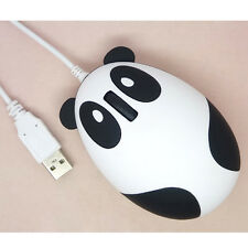 Universal Cartoon Panda USB Wired Ergonomic Optical Mouse Gaming Mice PC Laptops