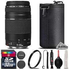 Canon EF 75-300mm III Lens For Canon T5, T5i, T6, T6i, T6s - 32GB Kit