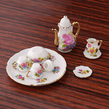 1:12 New Mini Porcelain Tea Set For Miniature Dollhouse Toy Kids Nice  New.