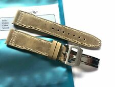 Strap 20mm Sand Beige Leather 20/18mm Pilot Mark Portofino Portuguese IWC Style