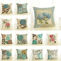 Square Throw Cushion Cover Flower Plant Series Office Lumbar Sofa Pillow Case