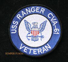 USS RANGER CVA-61 VETERAN HAT PATCH CARRIER CV US NAVY PIN UP VET CAG WING GIFT