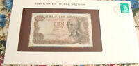 Banknotes of All Nations Spain 100 Pesetas 1970 P 152 UNC Prefix 7J