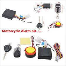Universal Motorcycle Alarm System Immobiliser Remote Control Security Anti-theft