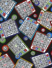 Fat Quarter Bingo Board 100 Cotton Quilting Fabric C5200
