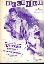 "PICNIC Sheet Music ""Moonglow"" William Holden Kim Novak"