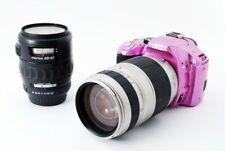 Pentax K-x 12.4MP 28-80/75-300mm Lens Set Pink[Exc w/8GB SD Card,Strap [426]