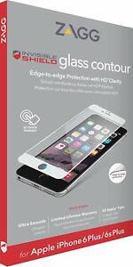 ZAGG iPhone 6s Plus 6 Plus InvisibleShield Glass Contour Screen Protector White