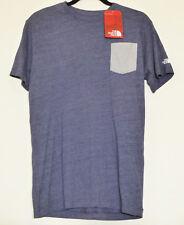THE NORTH FACE POUR HOMME S/S triple-couche Poche Mèche Casual T-shirt cosmique