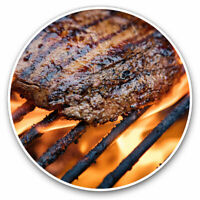 2 x Vinyl Stickers 7.5cm - Sizzling BBQ Steak Meat Summer Cool Gift #14570