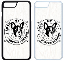 I Love My Boston Terrier Phone Case Cover iPhone 4 5 6 7 8 X XR XS Max Plus